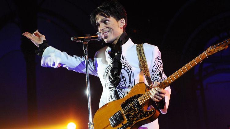 Prince en concert le 11 octobre 2009 au Grand Palais à Paris.  (Bertrand Guay / AFP)