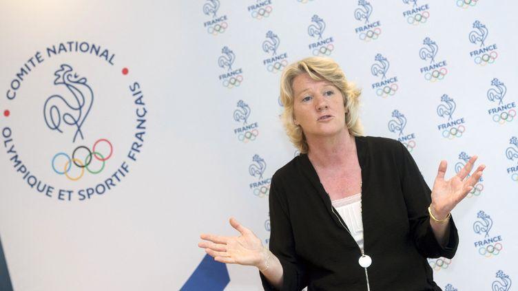 Brigitte Henriquesest devenue la première femme à diriger le Comité national olympique et sportif français (CNOSF), le 29 juin 2021. (GADOFFRE ALAIN / KMSP)