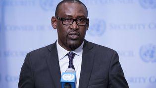 Le ministre des Affaires étrangères du Mali, Abdoulaye Diop, le 5 avril 2016 au siège de l'ONU à New York (Etats-Unis). (SIPANY / SIPA)