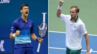 Novak Djokovic et Daniil Medvedev s'affrontent en finale de l'US Open dimanche 12 septembre. (AFP)