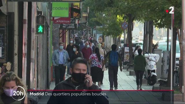 Madrid : certains quartiers populaires sont reconfinés