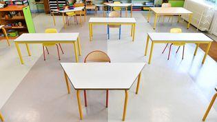 L'école maternelle Nicolas Leblanc, le 7 mai 2020, à Bourges. (PIERRICK DELOBELLE / MAXPPP)