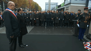 Michaël Dias rend hommage à son père, tué devant le Stade de France, le 13 novembre. (FRANCEINFO)