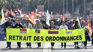 Manifestation contre la réforme du Code du travail à Nantes, jeudi 21 septembre 2017. (MAXPPP)
