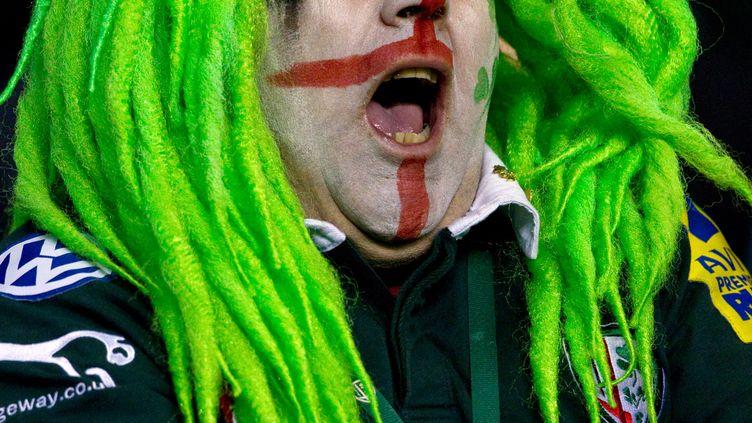 Un supporter de l'équipe de rugby des London Irish, lors d'un match entre cette équipe et les Wasps de Londres, à Reading (Angleterre), le 26 novembre 2011. (BEN HOSKINS / GETTY IMAGES)