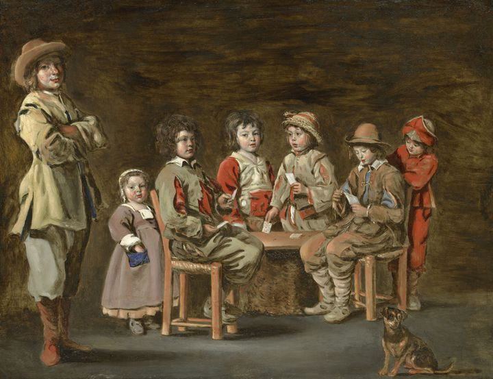 """Antoine Le Nain, """"Les petits joueurs de cartes"""", vers 1640-1645,Williamstown, Sterling and Francine Clark Art Institute  (Photography by Robert LaPrelle, courtesy of the Kimbell Art Museum)"""