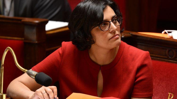 La ministre du Travail,Myriam El Khomri, assiste au débat sur la loi Travail à l'Assemblée nationale à Paris, le 4 mai 2016. (BERTRAND GUAY / AFP)