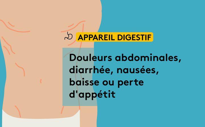 """Les effets du """"Covid long"""" sur le système digestif. (JESSICA KOMGUEN / FRANCEINFO)"""