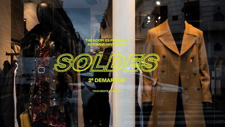 Les soldes àParis, le 2 février 2021. (RICCARDO MILANI / HANS LUCAS / AFP)
