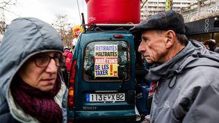 Journée nationale de manifestations des retraites pour protester contre les réductions de leurs retraites dues aux réformes gouvernementales, le 31 janvier 2019. (SADAK SOUICI / LE PICTORIUM / MAXPPP)