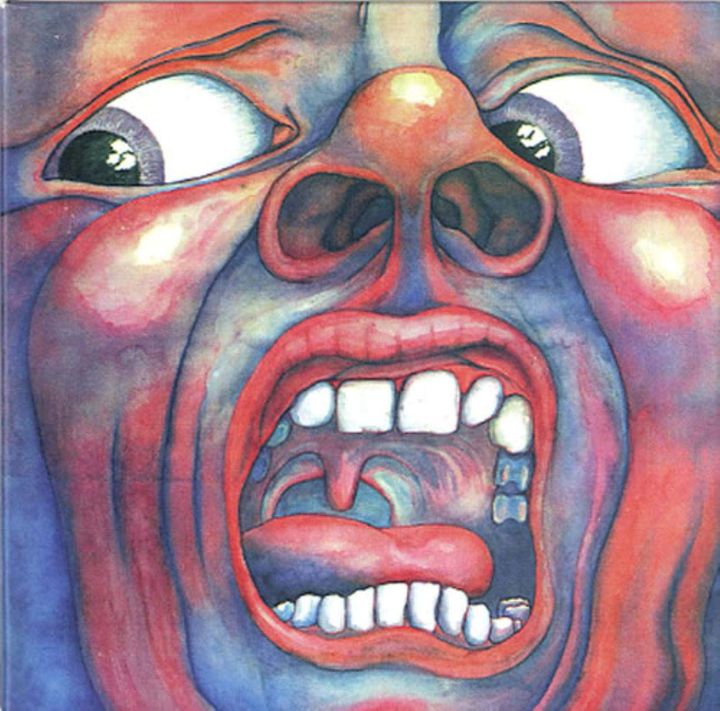 "la pochette de l'album ""In the court of the crimson king"" sorti en 1969 (Barry Godber)"