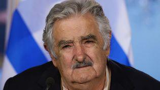 Le président uruguayen José Mujica, le 13 mai 2014 à Washington. (JEWEL SAMAD / AFP)