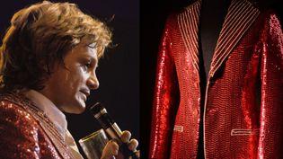 Claude François a porté cette veste rouge le 12 janvier 1974 lors de son concert d'adieux au Forest National de Bruxelles  (-)
