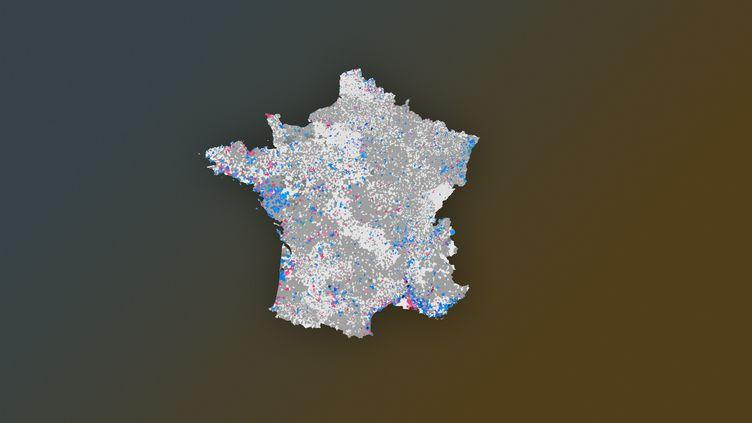 Retrouvez notre carte de France des résultats des élections municipales 2020 (FRANCEINFO)