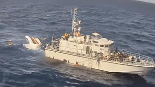 """Le 6 novembre 2017, l'ONG Sea Watch a filmé le """"sauvetage"""" de migrants par des garde-côtes libyens (YOUTUBE/SEA WATCH e.V.)"""