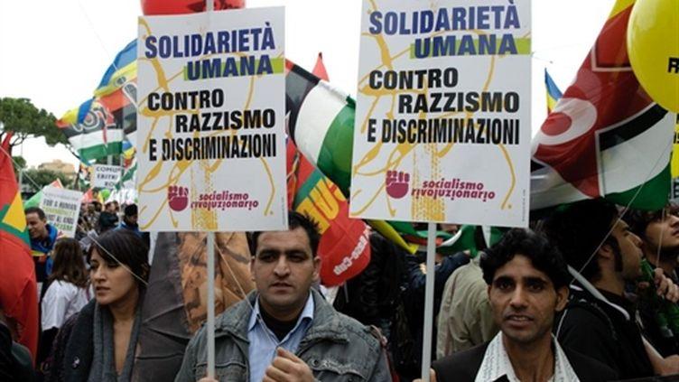 Manifestation antiraciste à Rome (17/10/2009) (© AFP/Vincenzo Pinto)