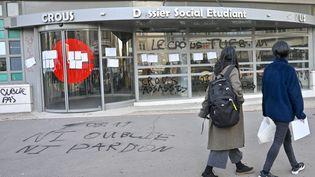 Le Crous de Lyon où un étudiant a tenté de s'immoler par le feu en novembre 2019. (ROLLAND QUADRINI / MAXPPP)