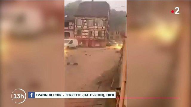 Orages : le Haut-Rhin sous l'eau après des pluies diluviennes