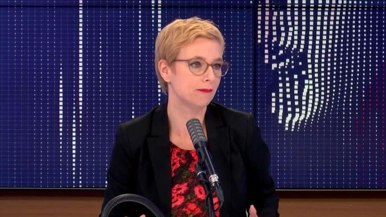 """Clémentine Autain, députée LFI de Seine-Saint-Denis, éait l'invitée du """"8h30 franceinfo"""", samedi 21 novembre 2020. (FRANCEINFO / RADIOFRANCE)"""