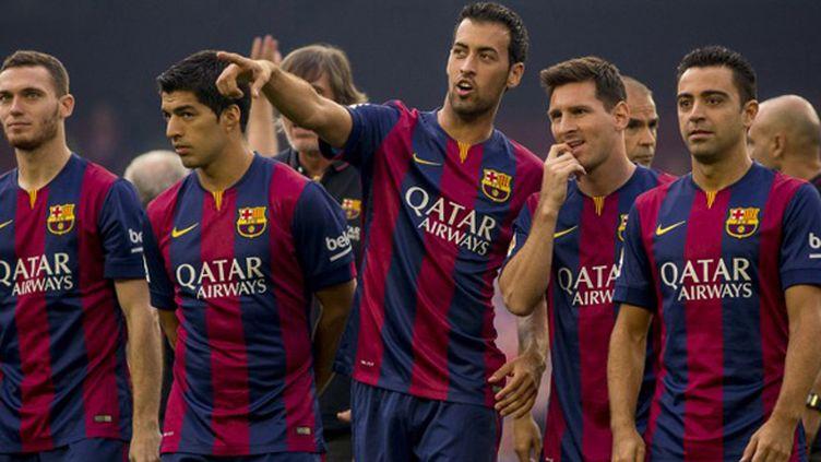 Vermaelen, Suarez, Busquets, Messi et Xavi (FC Barcelone) (ALBERT LLOP / ANADOLU AGENCY)