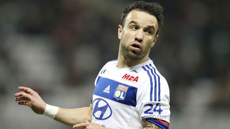 Le joueur de l'OL Mathieu Valbuena
