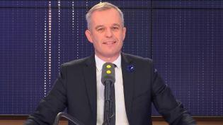 François de Rugy, ministre de la Transition écologique et solidaire, le 9 novembre 2018. (RADIO FRANCE / FRANCEINFO)