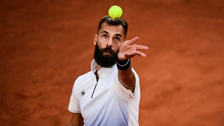 Benoit Paire a gagné son premier match post-confinement, au 1er tour de Roland-Garros (MARTIN BUREAU / AFP)