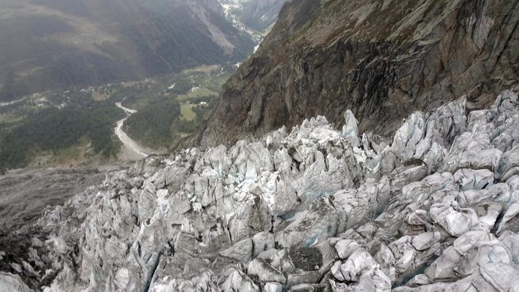 Le glacier de Planpincieux en septembre 2019.  (AOSTA VALLEY REGION PRESS OFFICE HANDOUT / MAXPPP)
