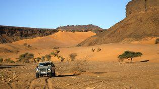 """Le site d'Agraoua, dans l'Adrar mauritanien, où le Quai d'Orsay estime que """"le tourisme est à proscrire"""". (NICOLAS THIBAUT / PHOTONONSTOP / AFP)"""