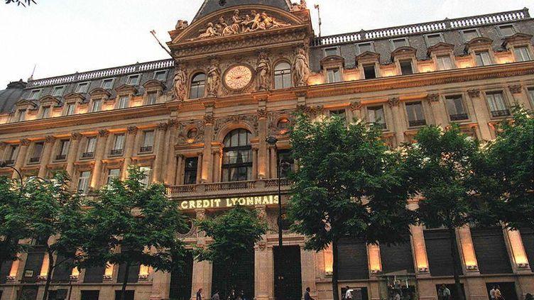 Le siège du Crédit Lyonnais, à Paris, le 9 juin 1993. (PIERRE BOUSSEL / AFP)
