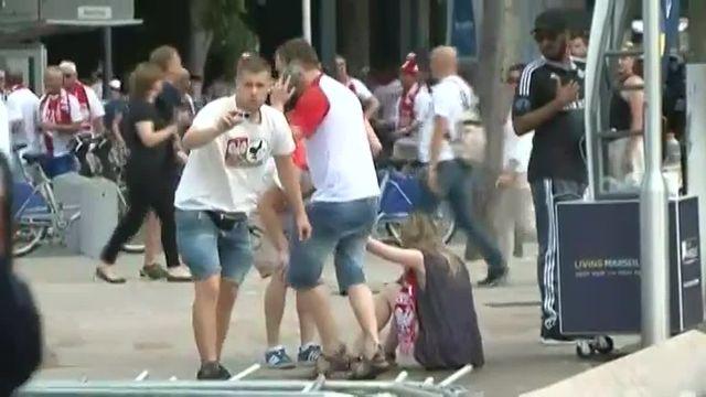 A Marseille, des incidents éclatent avec des supporters polonais avant le match