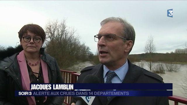 Inondations : 14 départements en état d'alerte