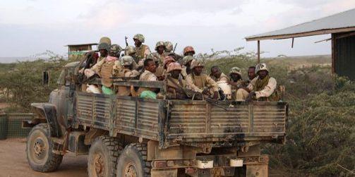 Militaires djiboutiensœuvrant dans le cadre de l'ONU en Somalie le 15 mars 2014. (AFP - Au-Un Photo - Ilyas Aabukar)