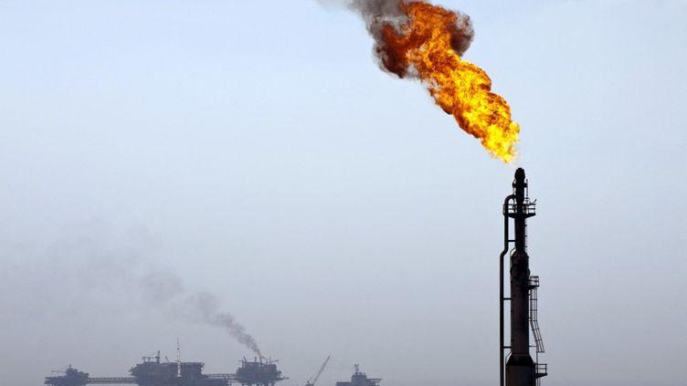 Une partie de l'installationKu Maloob Zaap, du gorupe pétrolier mexicain Pemex, dans le Golfe du Mexique, en 2010. (ALFREDO ESTRELLA / AFP)