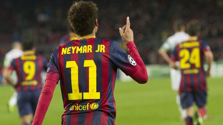 L'attaquant du FC Barcelone Neymar