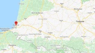 Bayonne(Pyrénées-Atlantiques). (GOOGLE MAPS)