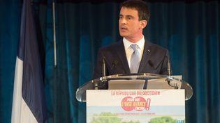 Le Premier ministre Manuel Valls en meeting à Bresles dans l'Oise, le 9 mars 2015. (DENIS CHARLET / AFP)