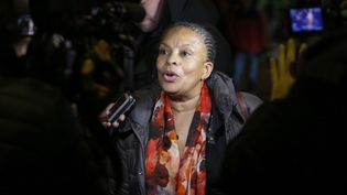 L'ancienne ministre de la Justice Christiane Taubira, le 28 janvier 2016 à New York (Etats-Unis). (KENA BETANCUR / AFP)