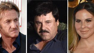 Le baron de la drogue JoaquínGuzman et l'actrice mexicaine Kate Del Castillo. (AFP)