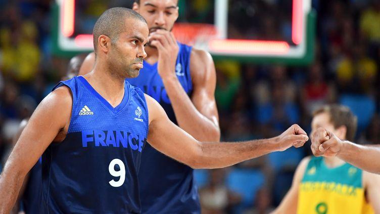 Le capitaine français Tony Parker  (ANDREJ ISAKOVIC / AFP)