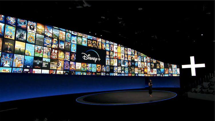 Présentation de la nouvelle plateforme de SVoD Disney+, le 11 avril 2019. (DISNEY)