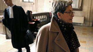 Viviane Lambert, la mère de Vincent Lambert, à la cour de Reims le 1er février 2016. (FRANCOIS NASCIMBENI / AFP)