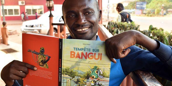 """Didier Kassaï, l'auteur de """"Tempête sur Bangui"""" (La Boîte à Bulles).  (ISSOUF SANOGO / AFP)"""