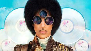 """Prince et son troisième oeil pour """"Art Official Age"""".  (DR)"""