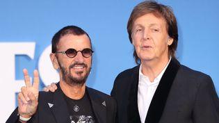 Les ancien Beatles Ringo Starr et Paul McCartney, à Londres en septembre 2016.  (Karwai Tang/WireImage/Getty)