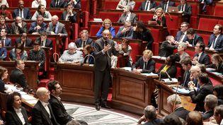 Le Premier ministre, Edouard Philippe, s'exprime sur le recours à l'article 49.3 pour faire passer la réforme des retraites, le 25 février 2020. (LUDOVIC MARIN / AFP)