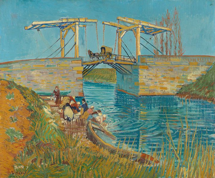 """Vincent van Gogh, """"Pont à Arles (pont de Langlois)"""", mi-mars 1888, Arles (Kröller-Müller Museum)"""