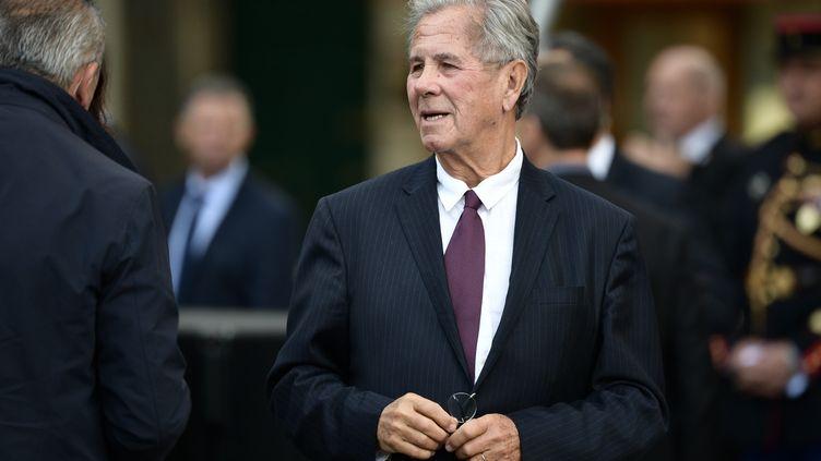 Jean-Louis Debré lors des funérailles de Jacques Chirac, à l'église Saint-Sulpice de Paris, le 30 septembre 2019. (MARTIN BUREAU / AFP)