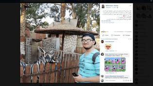 La photo d'un animal présenté comme un zèbre mais soupçonné d'être un âne, prise dans un zoo au Caire (Egypte), et mise en ligne le 21 juillet 2018 par un internaute égyptien. (MAHMOUD A. SARHAN / FACEBOOK)