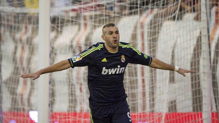 Karim Benzema a ouvert le score face à Valence (DANI POZO / AFP)